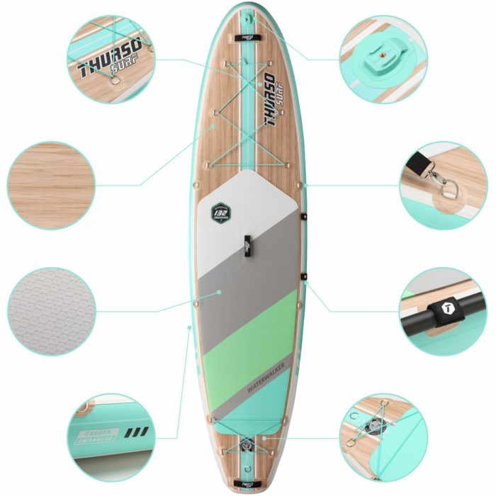 stand up paddle board waterwalker 132 turquoise feature thurso surf