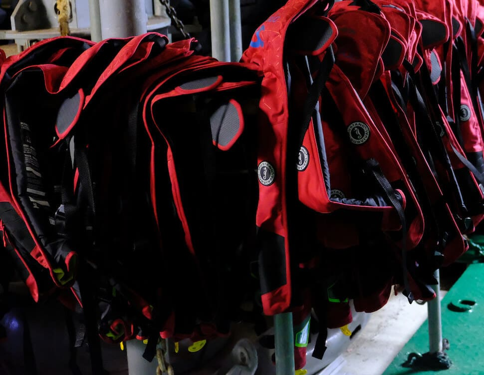 Type 5 Life Jackets Drying