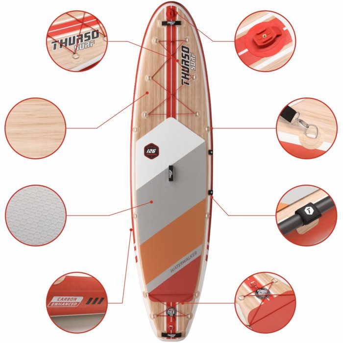 stand up paddle board waterwalker 126 crimson feature thurso surf