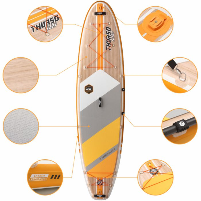 stand up paddle board waterwalker 126 tangerine feature thurso surf