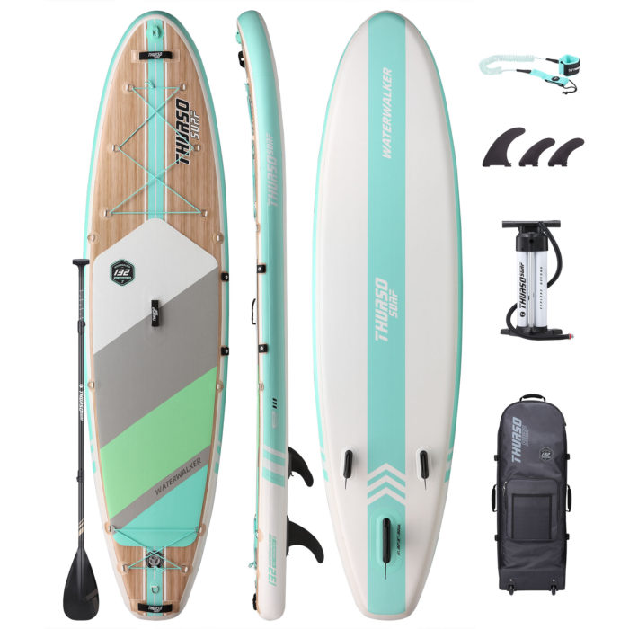 stand up paddle board waterwalker 132 turquoise package thurso surf