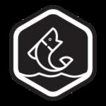 paddle board fishing icon