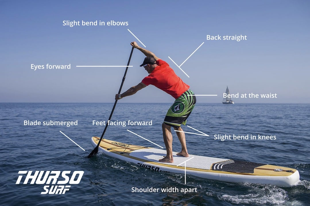 Thurso Surf Blog - Best Paddleboard Stroke - Elements of a Perfect Stroke Infographic