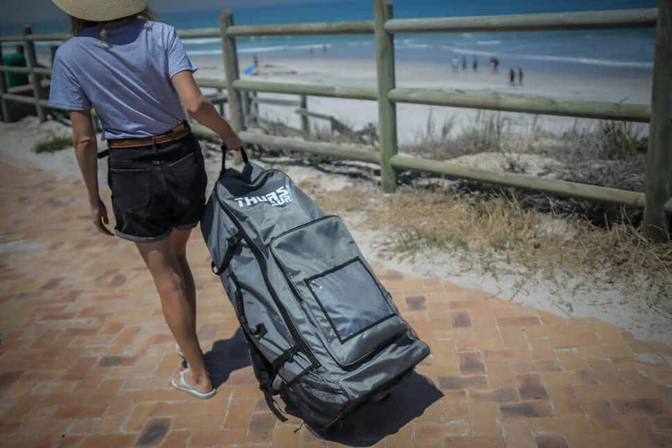 SUP size stand up paddle board roller bag