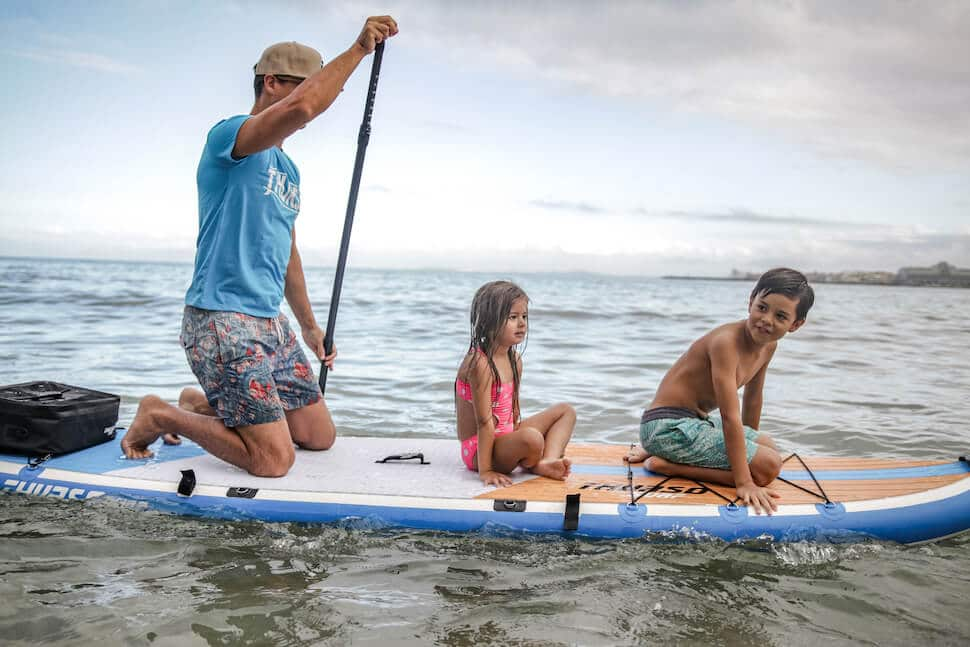 beginners only SUP myth kids dad on SUP max