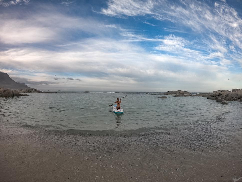 thurso surf tranquility yoga sup knee paddling