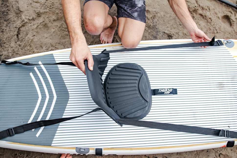 thurso surf waterwalker 120 all-around SUP centered kayak seat