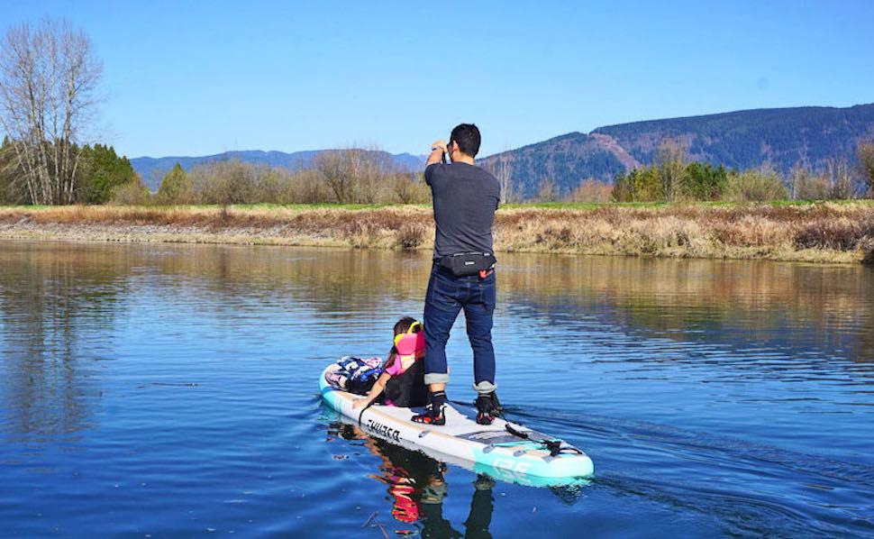 thurso surf waterwalker 126 dad daughter kayak seat