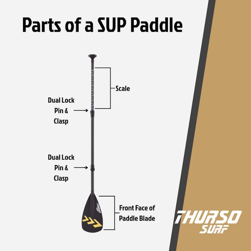 SUP paddle diagram features