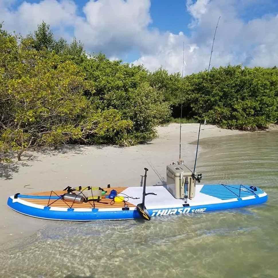 Thurso Surf Max SUP setup for fishing