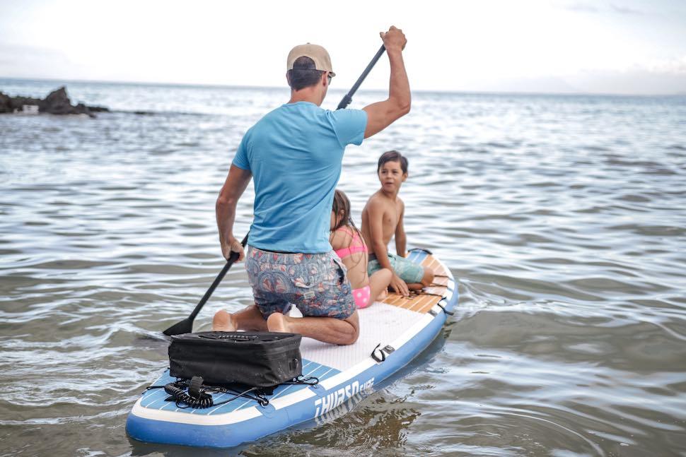 Family on Thurso Surf Max Multi-purpose SUP