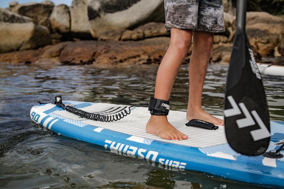 Child paddles on Thurso Surf Prodigy Junior stand up paddleboard