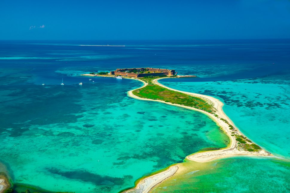5 places to go camping with your SUP - Dry Tortugas National Park, Florida