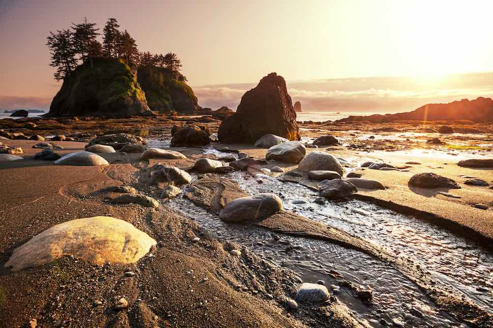 5 places to go camping with your stand up paddleboard - Olympic National Park, Washington